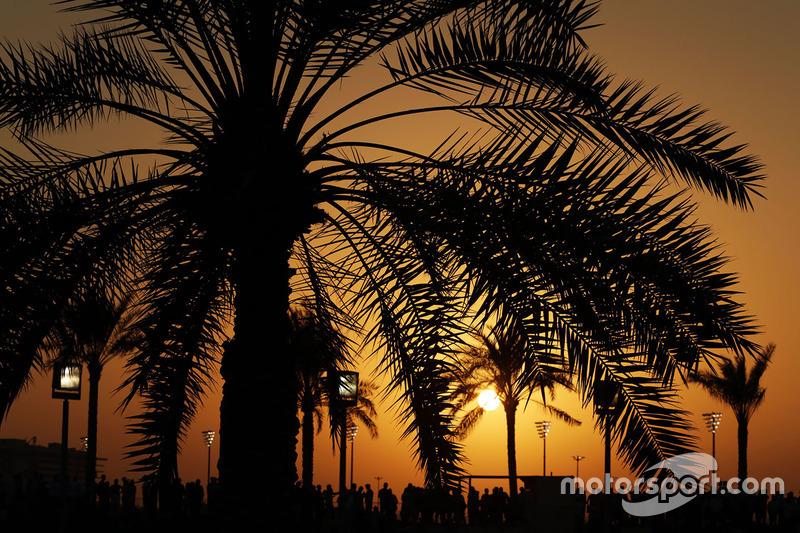 Fans en la puesta de sol