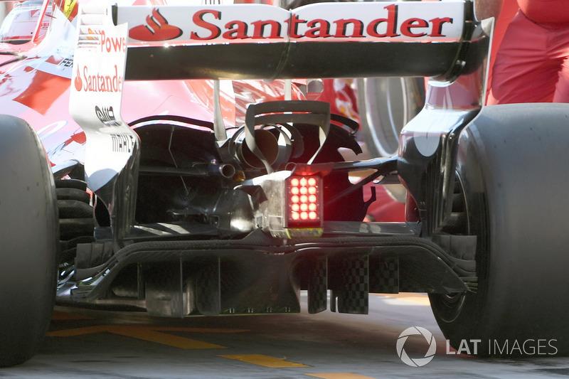 Задня частина Ferrari SF70H