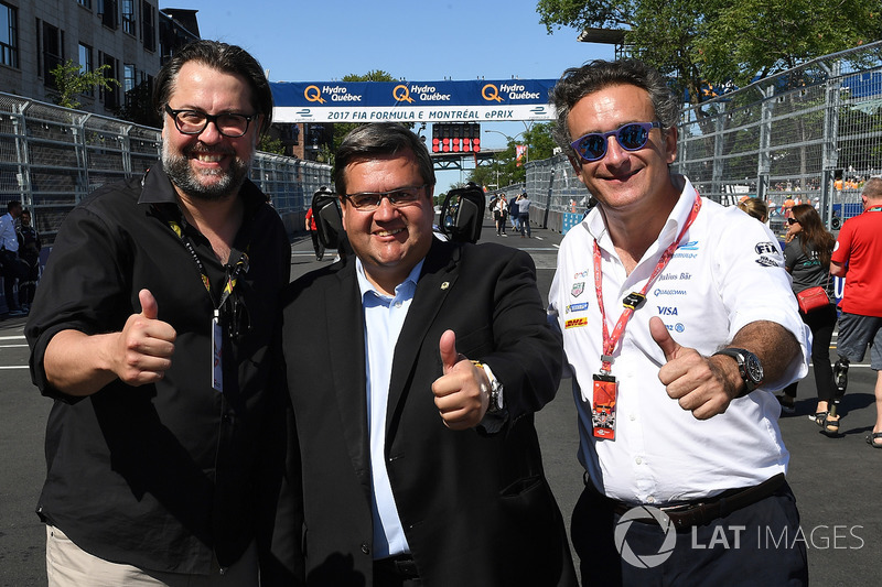 دينيس كودير، عمدة مونتريال وأليخاندرو عجاج، الرئيس التنفيذي للفورمولا إي