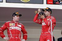 1. Sebastian Vettel, Ferrari; 2. Kimi  Räikkönen, Ferrari