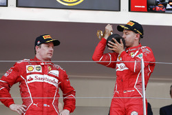 Переможець Себастьян Феттель, Ferrari, Кімі Райкконен, Ferrari