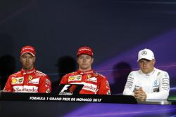 Presss conference: polesitter Kimi Raikkonen, Ferrari, second place Sebastian Vettel, Ferrari, third place Valtteri Bottas, Mercedes AMG F1