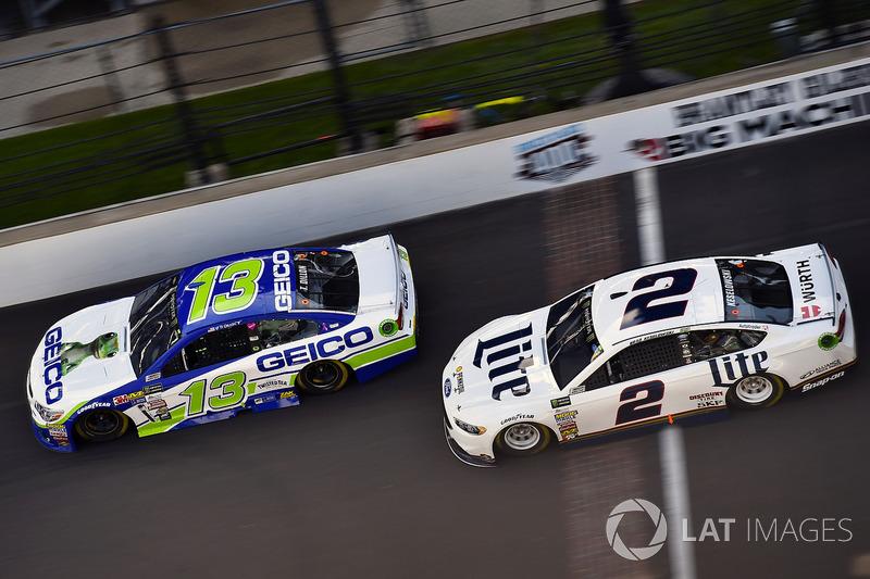 Ty Dillon, Germain Racing Chevrolet, Brad Keselowski, Team Penske Ford