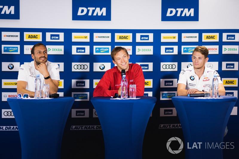 Gary Paffett, Mercedes-AMG Team HWA, Mercedes-AMG C63 DTM, Mattias Ekström, Audi Sport Team Abt Sportsline, Audi A5 DTM, Marco Wittmann, BMW Team RMG, BMW M4 DTM