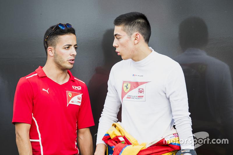 Антонио Фуоко, PREMA Racing, и Джулиано Алези, Trident