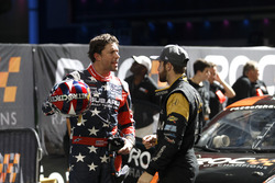 Travis Pastrana with James Hinchcliffe