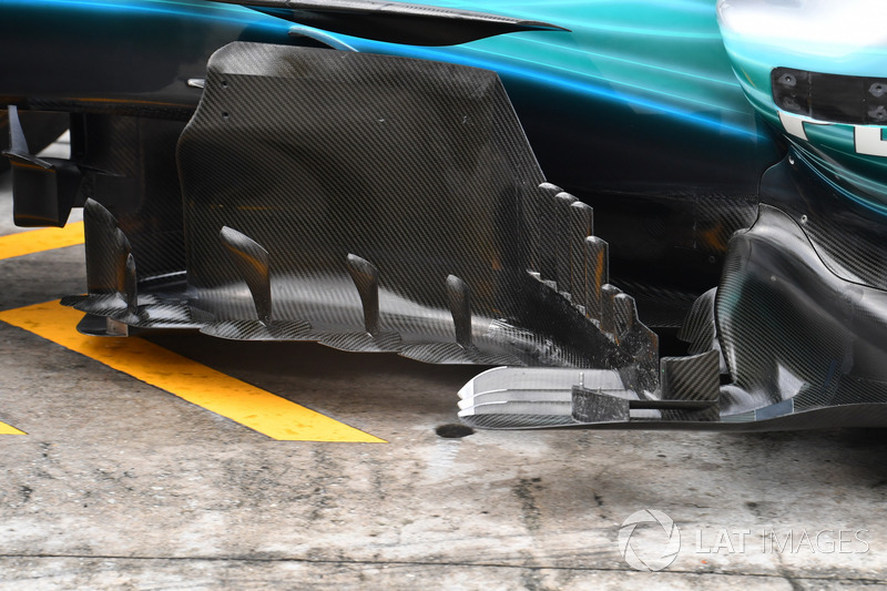 Mercedes F1 W08: Windabweiser