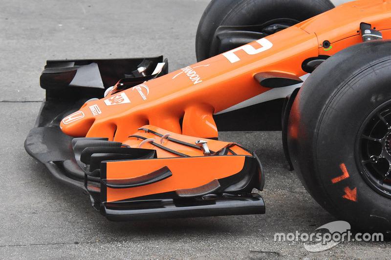McLaren MCL32 : vue détaillée du nez