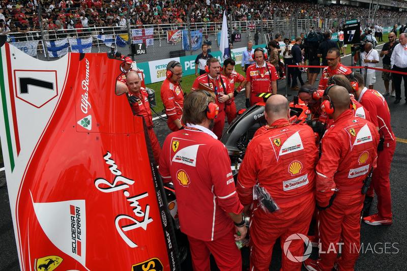 Механіки Ferrari , Ferrari SF70-H Кімі Райкконена