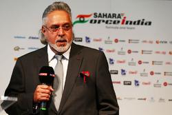 Dr. Vijay Mallya, dueño del equipo Sahara Force India F1