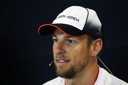 Jenson Button, McLaren in the press conference