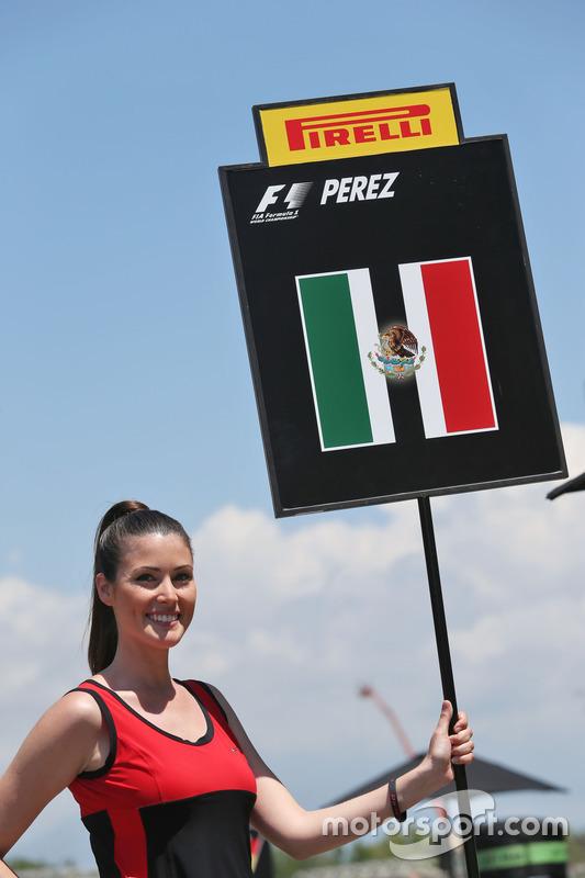 Chica de la parrilla de Sergio Pérez, Sahara Force India F1
