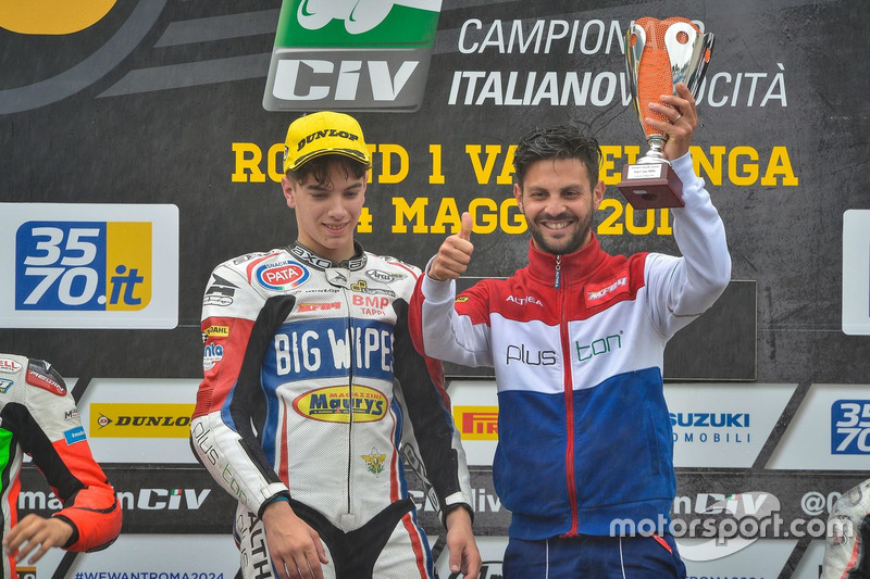 Il vincitore Nicholas Spinelli, MF84 Pluston Althea