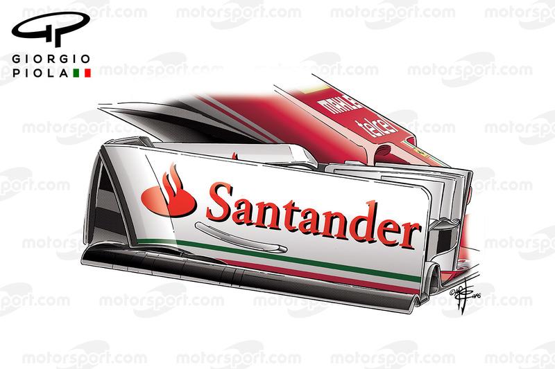 Ferrari SF16H front wing endplate, Austrian GP