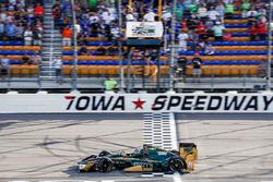 Josef Newgarden, Ed Carpenter Racing Chevrolet takes the checkered flag