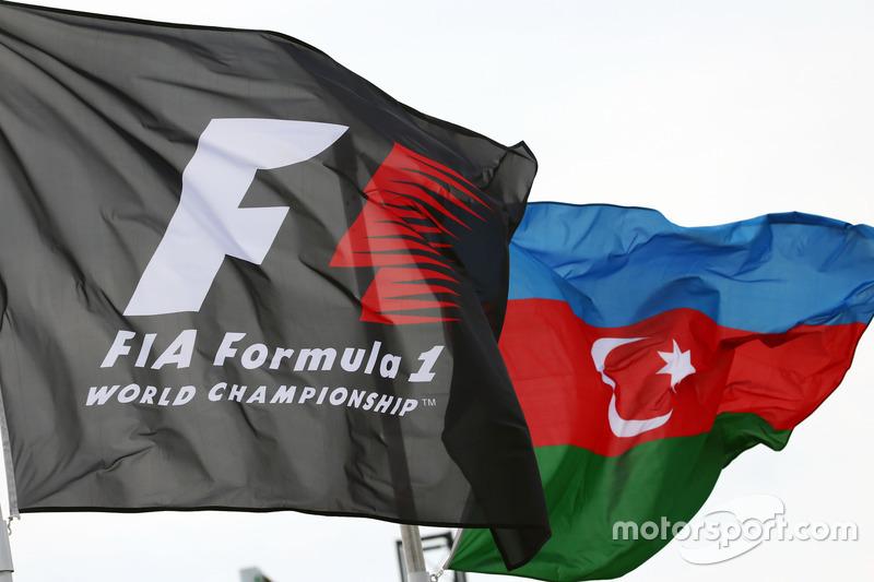 Banderas de F1 y Azerbaiyán