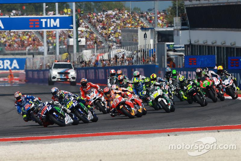 Start zum Rennen: Jorge Lorenzo führt