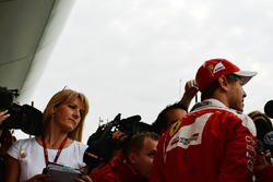 Sebastian Vettel, Ferrari con los medios de comunicación