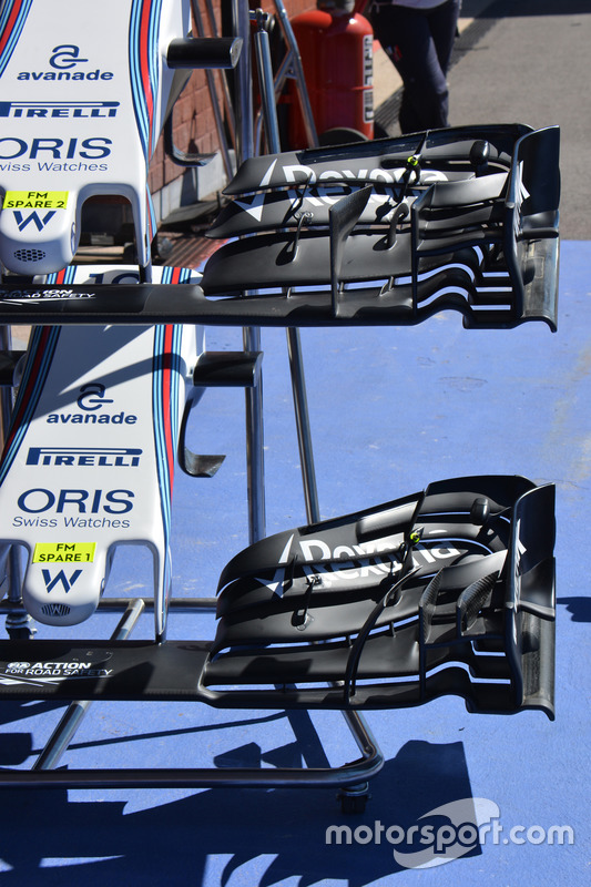 Les ailerons avant de la Williams FW38