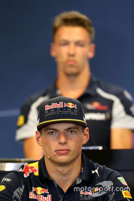 Max Verstappen, Red Bull Racing at FIA Press Conference
