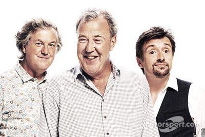 James May, Jeremy Clarkson en Richard Hammond presenteren The Grand Tour