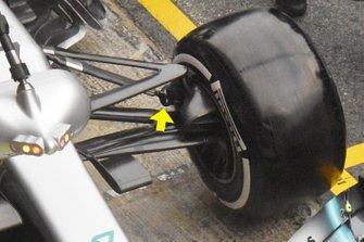Mercedes-AMG F1 W10 detail