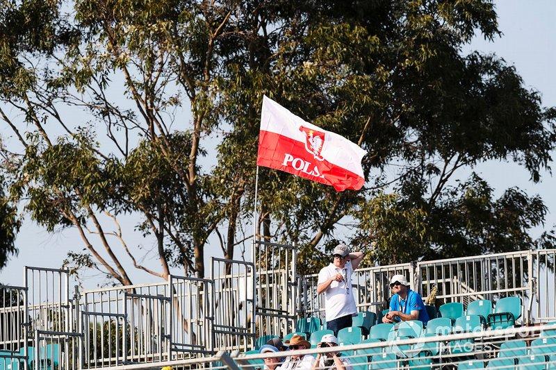 Bandiera polacca a supporto di Robert Kubica, Williams Racing
