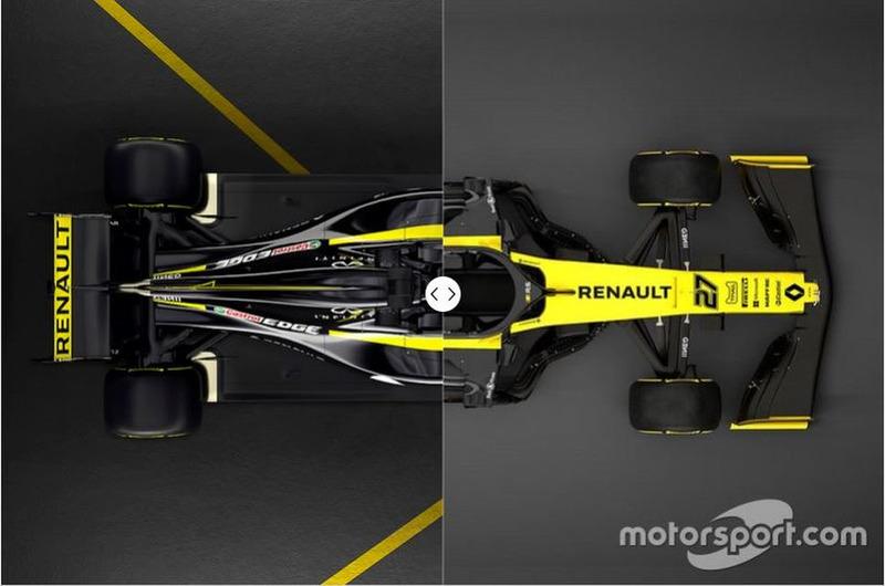Comparativa del Renault R.S.18 vs. R.S.19