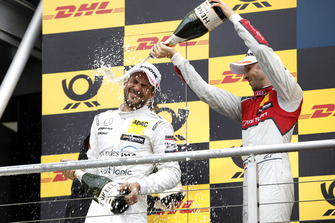 Podium: Gary Paffett, Mercedes-AMG Team HWA and René Rast, Audi Sport Team Rosberg