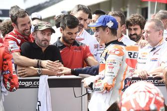 3. Marc Marquez, Repsol Honda Team, mit Max Biaggi