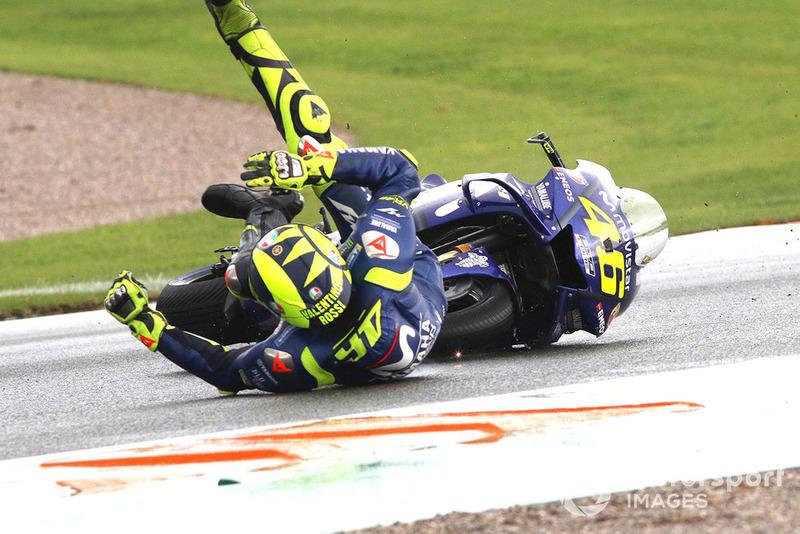 Valentino Rossi, Yamaha Factory Racing crash