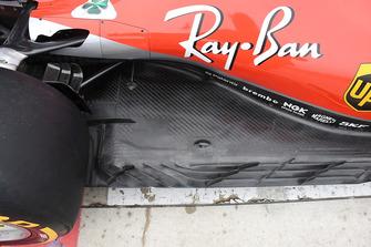 Vue du fond plat de la Ferrari SF71H