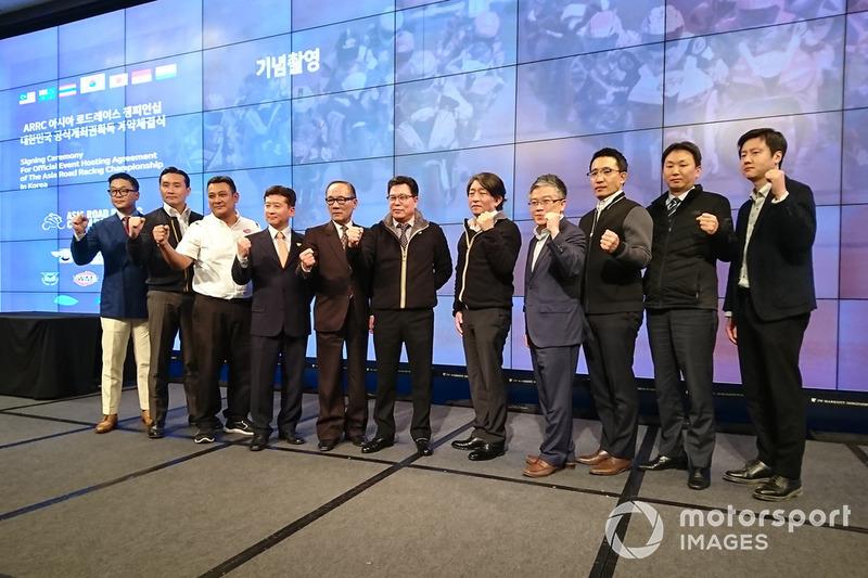 Konferensi pers dan penandatanganan kontrak ARRC Korea Selatan