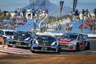 Johan Kristoffersson, PSRX Volkswagen Sweden, Petter Solberg, PSRX Volkswagen Sweden, Timmy Hansen, Team Peugeot Total