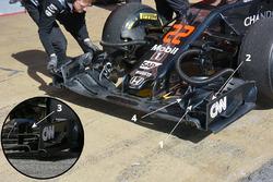 Деталь переднего антикрыла McLaren MP4-31