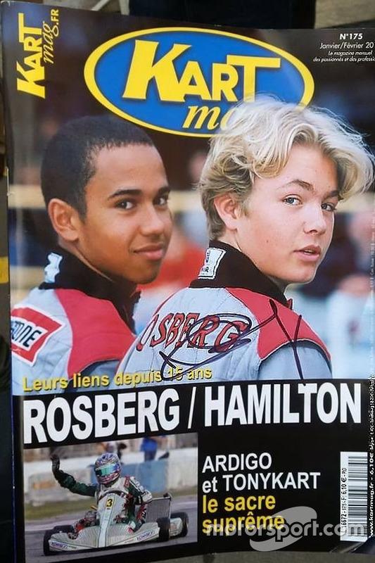 汉密尔顿和罗斯伯格登上卡丁专业杂志封面