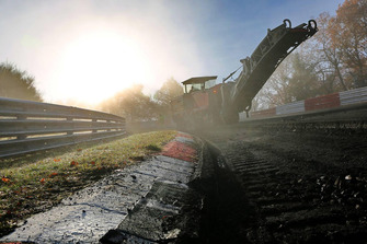 Construction work at the Nürburgring Nordschleife