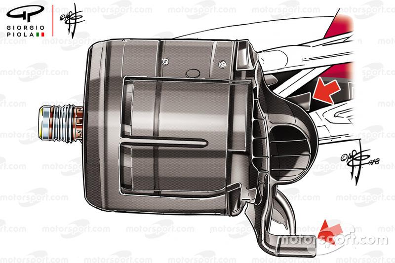 """قناة تهوية المكابح على سيارة """"اس.اف71اتش"""" في سوزوكا"""