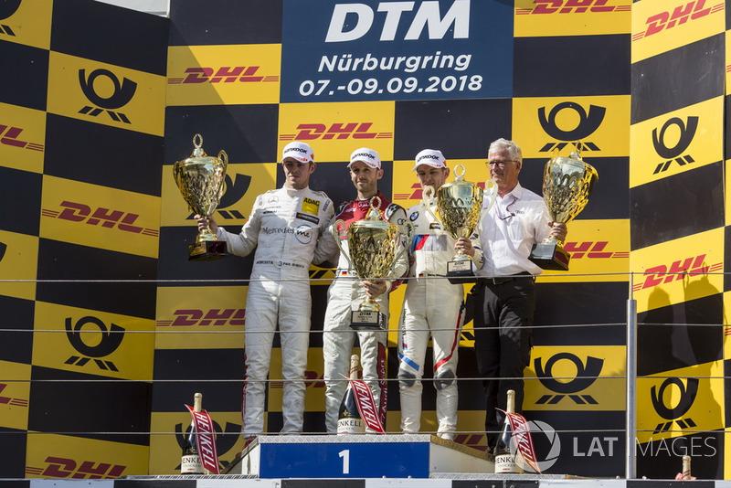 Podium: 1. René Rast, Audi Sport Team Rosberg, 2. Paul Di Resta, Mercedes-AMG Team HWA, Mercedes-AMG C63 DTM, 3. Marco Wittmann, BMW Team RMG, BMW M4 DTM
