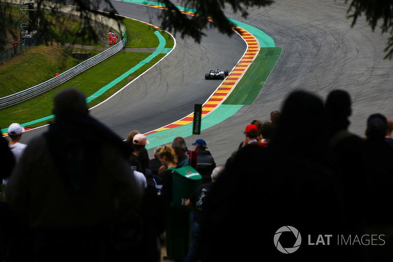 Lewis Hamilton, Mercedes AMG F1 W09, at Pouhon