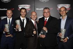 Tequila Patron North American Endurance Cup winners Rob Moran, Mario Farnbacher, Ben Keating, Bill Riley, Jeroen Bleekmolen