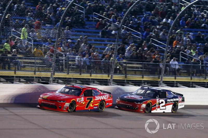 Justin Allgaier, JR Motorsports Chevrolet, Ben Kennedy, GMS Racing Chevrolet