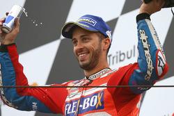 Podium : le troisième, Andrea Dovizioso, Ducati Team