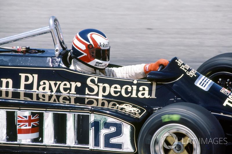 Nigel Mansell, Lotus 87-Ford Cosworth