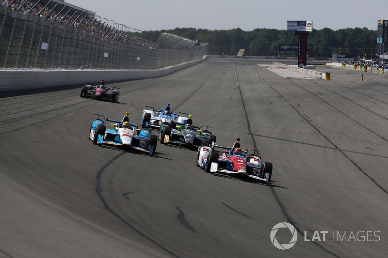 Conor Daly, A.J. Foyt Enterprises Chevrolet, Gabby Chaves, Harding Racing Chevrolet