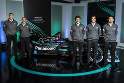 James Barclay, Teamdirektor, Jaguar Racing, Gerd Mäuser, Geschäftsführer, Panasonic Jaguar Racing, Mitch Evans, Nelson Piquet Jr, Ho-Pin Tung