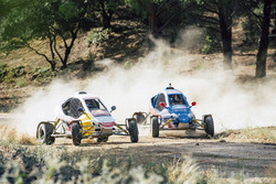 Carlos Sainz and Carlos Sainz Jr. perform at the rally circuit in Cebreros