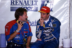 Nigel Mansell, Williams and Peter Windsor, Williams Sponsorship Manager