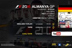 F1 2016 Almanya GP Online Turnuva