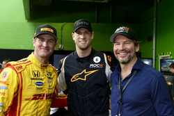 Ryan Hunter-Reay and Fredrik Johnsson, RoC with a guest